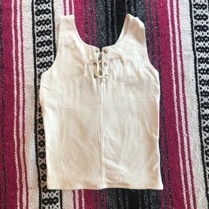 Hollister white tank top